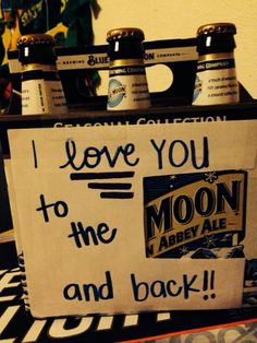 Boyfriend gift, I love you to the moon and back. Great anniversary, Christmas, valentines gift or just because gift