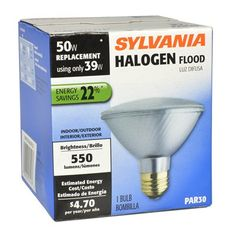 Sylvania Halogen 39 Watt Par 30 Shortneck Medium Base E 26 Base