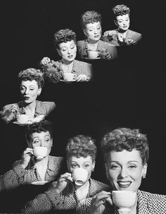 Keppler, Victor   American (1904-1987)    DESCRIPTIVE TITLE: Actress, Martha Scott, drinking coffee [ad for Nescafe]