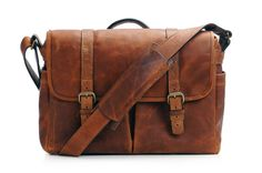 ONA Antique Cognac Leather Brixton Camera & Laptop Messenger Bag