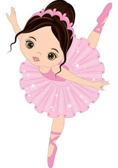 Vector cute little ballerina dancing. Vector ballerina girl in pink tutu dress. Ballerina Kunst, Ballerina Dancing, Little Ballerina, Girl Dancing, Ballet Dancers, Ballerina Silhouette, Ballerina Birthday Parties, Art Design, Cute Drawings
