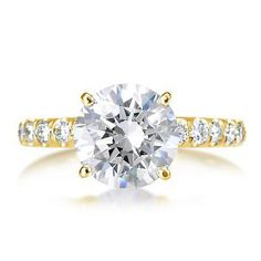 13427 jewelry 3.5 CT SI1/F ROUND CUT DIAMOND SOLITAIRE ENGAGEMENT RING 14K YELLOW GOLD  BUY IT NOW ONLY  $11110.0 3.5 CT SI1/F ROUND CUT DIAMOND SOLITAIRE ENGAGEMENT RING 14K YELLOW GOLD...