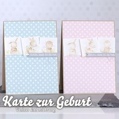 Video - How I make a card - Zur Geburt • Stempelwiese