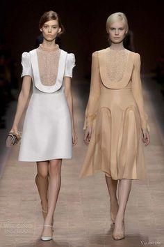 valentino spring summer 2013 puff sleeve bib dress -- Valentino Spring/Summer 2013 Ready-to-Wear Fashion Week, Love Fashion, High Fashion, Fashion Show, Fashion Design, Couture Fashion, Runway Fashion, Womens Fashion, Valentino