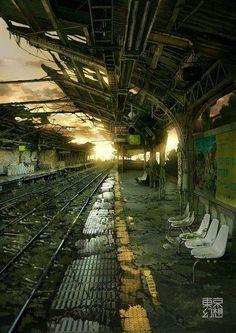Missed The Last Train Home - Abandoned Railway Station - Abandoned Building