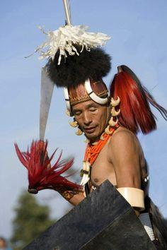 Yimchungru tribal dancers, Hornbill Festival, Kohima, Nagaland, India