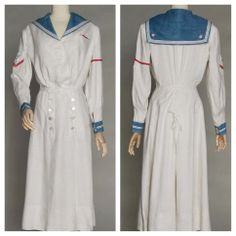 Adorable Lady's yachting Dress from 1915- love that classic nautical look!
