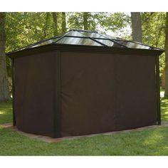 Sojag Ellington Sun Shelter Curtains - Brown