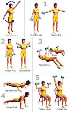 Ejercicios para reafirmar los senos. ~ Dietas fáciles para bajar de peso.
