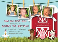 Farm Friends First Birthday  Custom Photo by KimNelsonCreative, $15.00