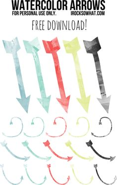 IROCKSOWHAT: Watercolor Arrows for Download