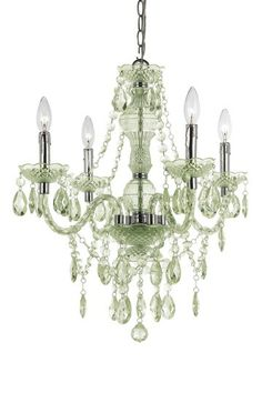 Imagine Mini Chandelier with colors matching a bedroom.  I like it..  Very elegant and fun at the same time