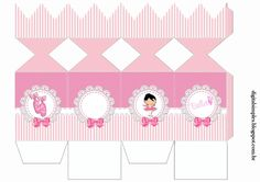 """Custom Theme Kit """"Ballerina Rose"""" for Print - Simple Digital Invitations Cardboard Box Crafts, 3d Paper Crafts, Diy And Crafts, Box Templates Printable Free, Eid Images, Hello Kitty Art, Ballerina Party, Baby Box, Diy Gift Box"""