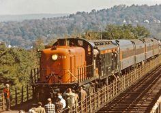 Work Train, Railroad Bridge, The Good Old Days, Locomotive, Diesel, 1970s, Transportation, The Unit, Cars