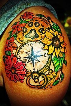 Ashley's Compass Tattoo I did 8)