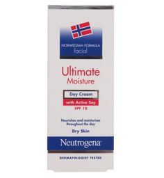 Neutrogena Norwegian Formula Ultimate Moisture Day Cream With Active Soy SPF10