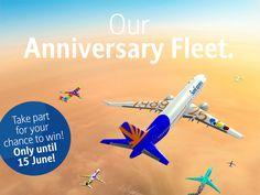 Allow us to introduce... Our anniversary fleet - is your aircraft already flying with us? Don't miss this opportunity, design your own SunExpress aircraft by 15 June and win two flights to the destination of your choice! Are you already flying? Fly with us at: 25years.sunexpress.com