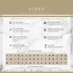 Letal Resume Template For Word Madison   Editable  Instant