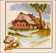 "Free cross-stitch pattern ""Seasons- Autumn"" | Cross-Stitch Club"