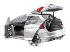 Ford iosis MAX Concept Design Sketch