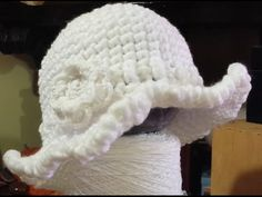 "Tutorial cappello all'uncinetto ""cloche"" - crochet hat - sombrero crochet"