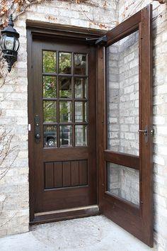 Custom black walnut door | by Steve Kuhl: Now this is a screen door!