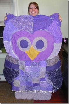 Owl Rag Quilt, Simplicity 2935 MommaDandDaBoyz.net