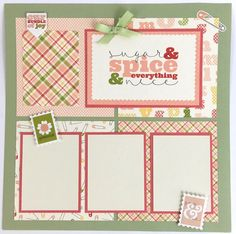 Baby Girl Scrapbook Page Kit or Premade Pre-Cut by ArtsyAlbums