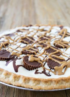Peanut Butter Cup Ice Cream Pie