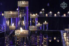 Candlelight Wedding Decor Purple