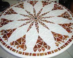 CENTRO DE MESA GIRATÓRIO. Mandala mosaic
