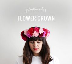 Galentines Day – DIY Flower Crown | by @makerssociety