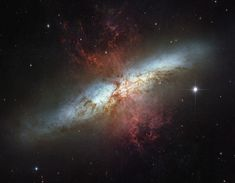 Messier 82 (also known as NGC 3034, Cigar Galaxy or M82) is the prototype nearby starburst galaxy about 12 million light-years away in the constellation Ursa Major.