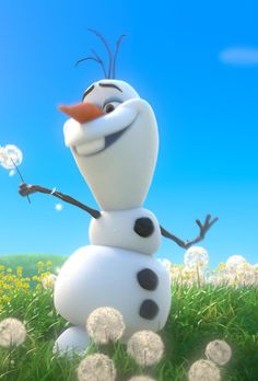 Olaf in the summer! Listen to the Frozen soundtrack FREE on hoopla with your public library card!
