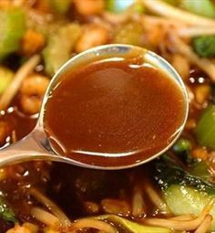 Brown Garlic Sauce. I was out of rice wine and used sake instead, it still turned out great.