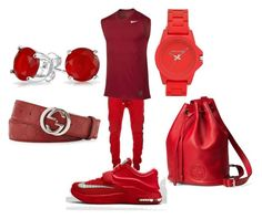 """""""All Red Everything"""" by kidnextdoor366 ❤ liked on Polyvore"""