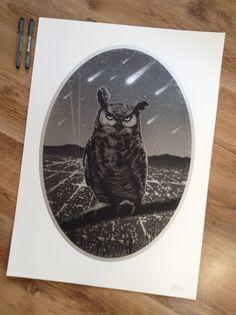 Paul Jackson owl print.