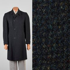 Vintage Mens 50s Tweed Overcoat Top Coat by StyleandSalvageMen