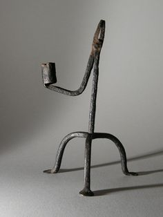 Antique Wrought iron rushlight and candle stand from Meirionydd Antique Welsh century Antique Welsh century wrought iron rushlight and candle stand from Meirionydd Primitive Lighting, Blacksmith Projects, Old Lamps, Candle Stand, Welsh, Country Style, Wrought Iron, Candlesticks, 18th Century
