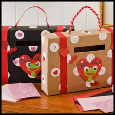 Cereal Box Valentine Holders
