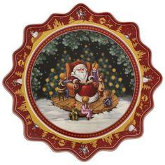 Villeroy & Boch Toy's Fantasy Gebäckteller groß, Santa erzählt Märchen 42cm-01