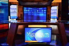 Home - Devlin Design Group Virtual Studio, Stage Set Design, Studio Desk, Corporate Office Design, Tv Sets, News Anchor, Tv Channels, News Studio, Counter