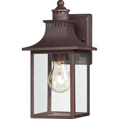 "View the Quoizel CCR8406 Chancellor 1 Light 12"" Tall Outdoor Wall Sconce with Clear Glass at LightingDirect.com."