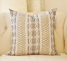 Gray & Gold Designer Geometric Pillow Black Blue by MotifPillows