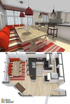 Kitchen Banquette, Kitchen Seating, Kitchen Nook, Kitchen Layout, Kitchen Ideas, Kitchen Design, Rustic Seating Charts, Table Seating Chart, Cozy Restaurant