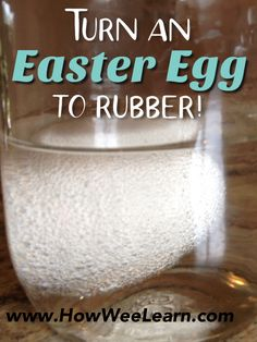 A great Easter science experiment for kids - turn an Easter Egg to rubber! This is the classic egg in vinegar activity with a wonderful SPRING twist! Educational Activities For Preschoolers, Preschool Science, Easter Activities, Science Experiments Kids, Science Lessons, Science For Kids, Science Activities, Science Projects, Science Fun