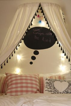 A Chalkboard Thought Cloud in Emmy's Room, and Exciting News! | Primitive and Proper