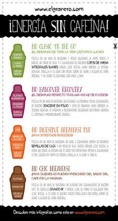 ¡Energía sin cafeína! 4 #Desayunos llenos de vitalidad como alternativa al café.