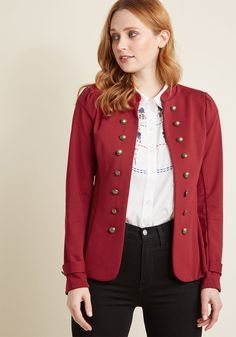 a989e46e67cb1 Glam Believer Knit Jacket in Red in 3X - Classic Blazer Knitted Jackets  Women