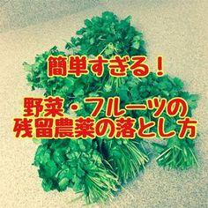 農作物を害虫から守るために撒かれる農薬。 実は日本の農薬使用量は世界でもトップクラス。 例えばリンゴはアメリカの2倍・EUの2.5倍の量の農薬が使われています。 そのためEUや台湾などには残留農薬量オーバーのため日本のイチゴやミカンは輸出できません。 (輸出用に畑や農薬を変える農家もいるそうです) 残留農薬を避けるにはオーガニックのものを買うのが一番ですが、どこにでも売ってる訳じゃないし、お値段も高くてなかなか買えないケースも多いですよね。 ということで今回は、 農薬を簡単に落とす方法 をご紹介します! Green Flowers, Food Menu, Good To Know, Body Care, Health Care, Life Hacks, Health Fitness, Food And Drink, Knowledge
